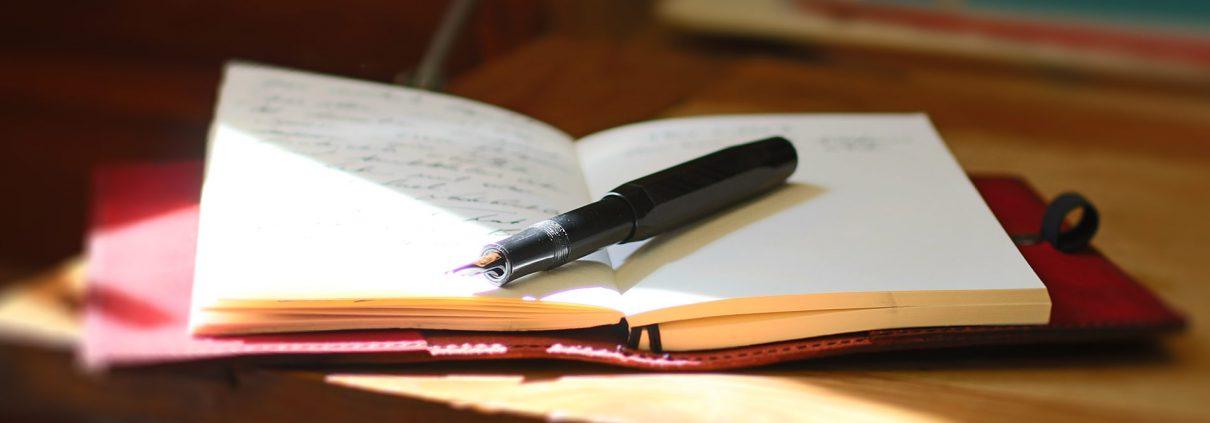 Notizbuch rot Leder