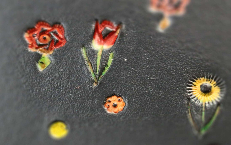 Leder Blumen