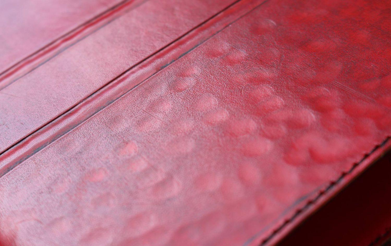Lederbuch rot punziert