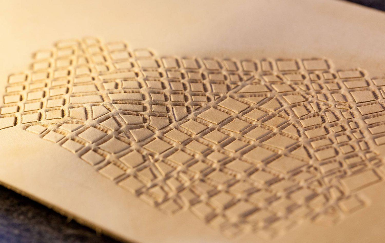 Leder Notizbuch abstrakte Liniennetz