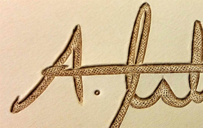 Leder Unterschrift