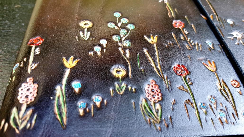 Lederbuch A6 Blumen