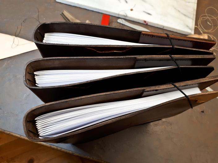 Lederbücher - Kintsugi in Leder